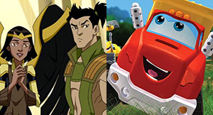 JLA Adventures Trapped in Time Chuck and Friends Trucks vs Wild Thumbnail