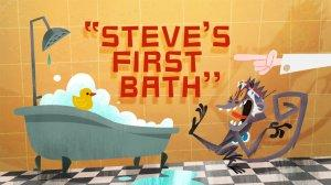 Cloudy with a Chance of Meatballs 2 Steve's First Bath Title Card