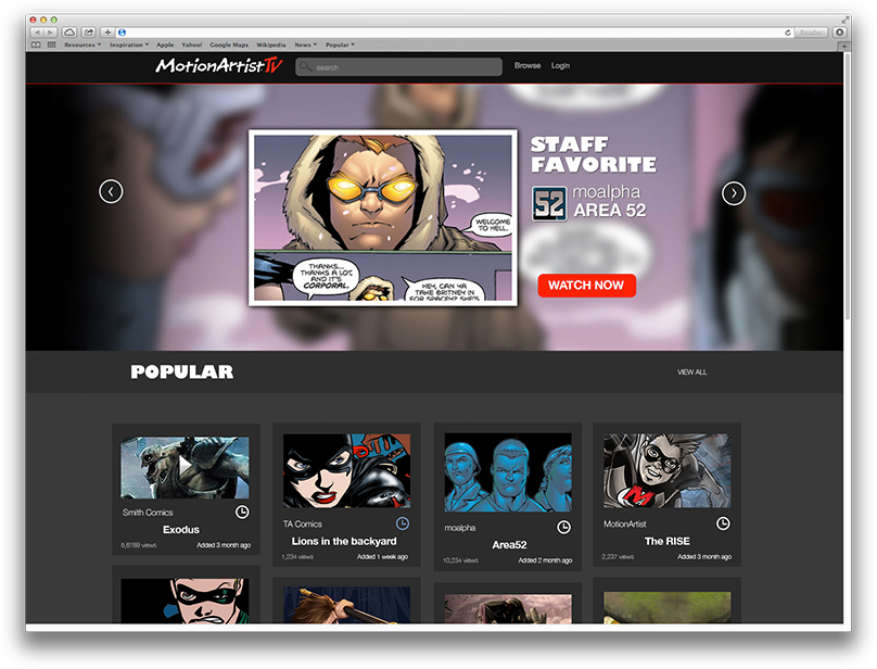 MotionArtistTV Screenshot
