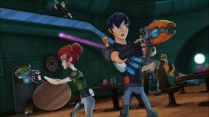 Slugterra: Heroes of the Underground Eli and Trixie in a Barroom Brawl