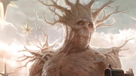 Groot, who closely resembles a tree.