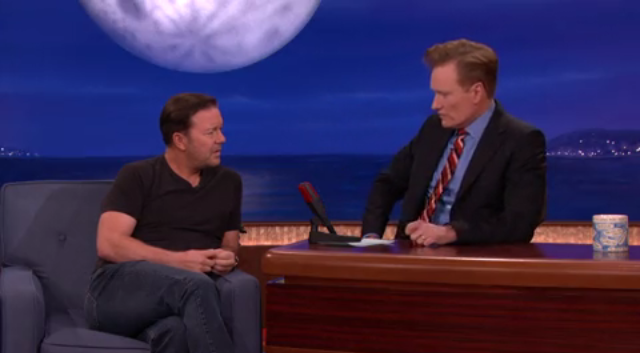 Ricky Gervais on Conan
