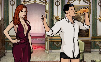 Archer trying to pretend to forget having anonymous sex with Juliana Calderon.