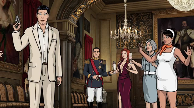 """Archer """"accidentally"""" shoots things and people to cover up his anonymous sex with Juliana."""