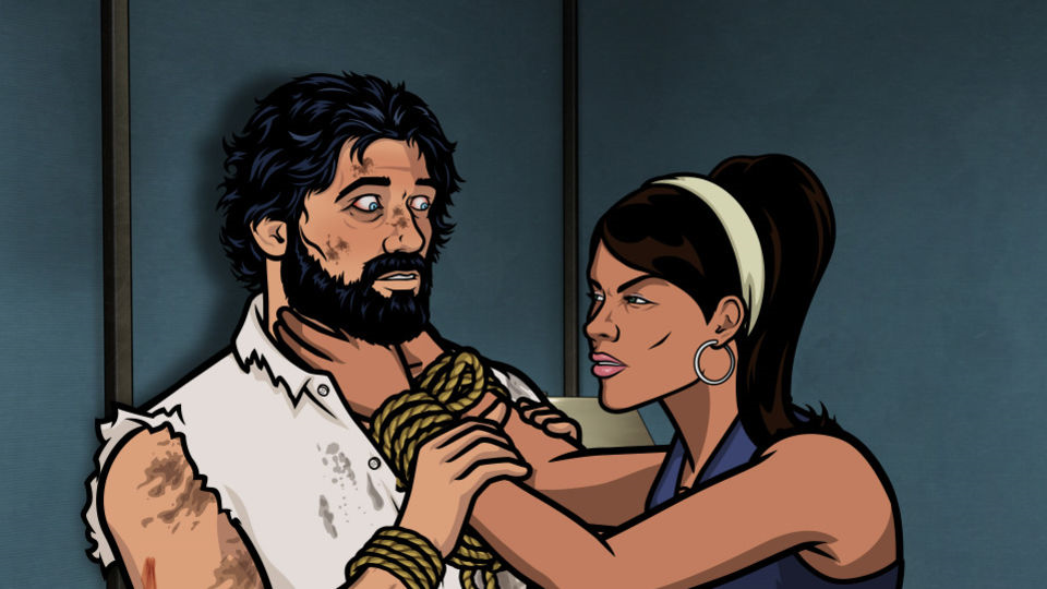 Archer says a few too many wrong things - thus arousing the pregnant ire of Lana.