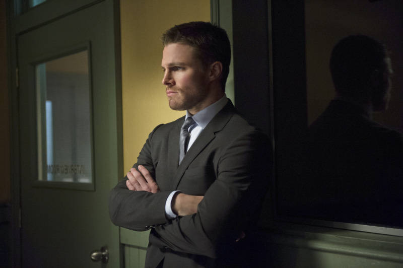 Arrow/Oliver is none too happy about Slade Wilson causing problems for him in Starling City.