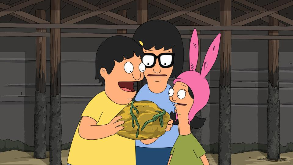 The Belcher kids find some ambergris on the beach.