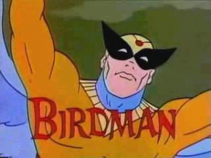 The original Birdman circa 1960s Hanna-Barbera.