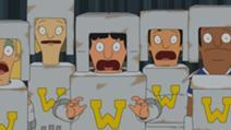 Gene's robot cheerleader routine is sabotaged!