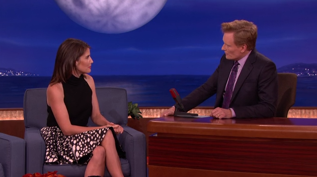 Cobie Smulders and Conan O'Brien