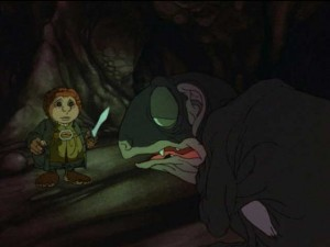 Rankin-Bass The Hobbit Bilbo and Gollum