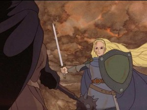 Rankin-Bass Return of the King Eowyn vs. the Witch King