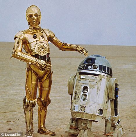 "C-3P0, with hands still firmly attached in ""Star Wars""."