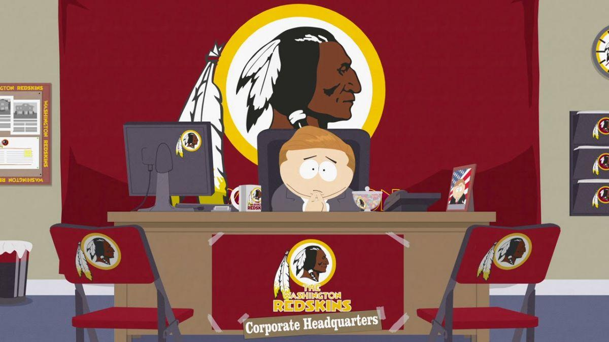 Cartman Names His Company Washington Redskins