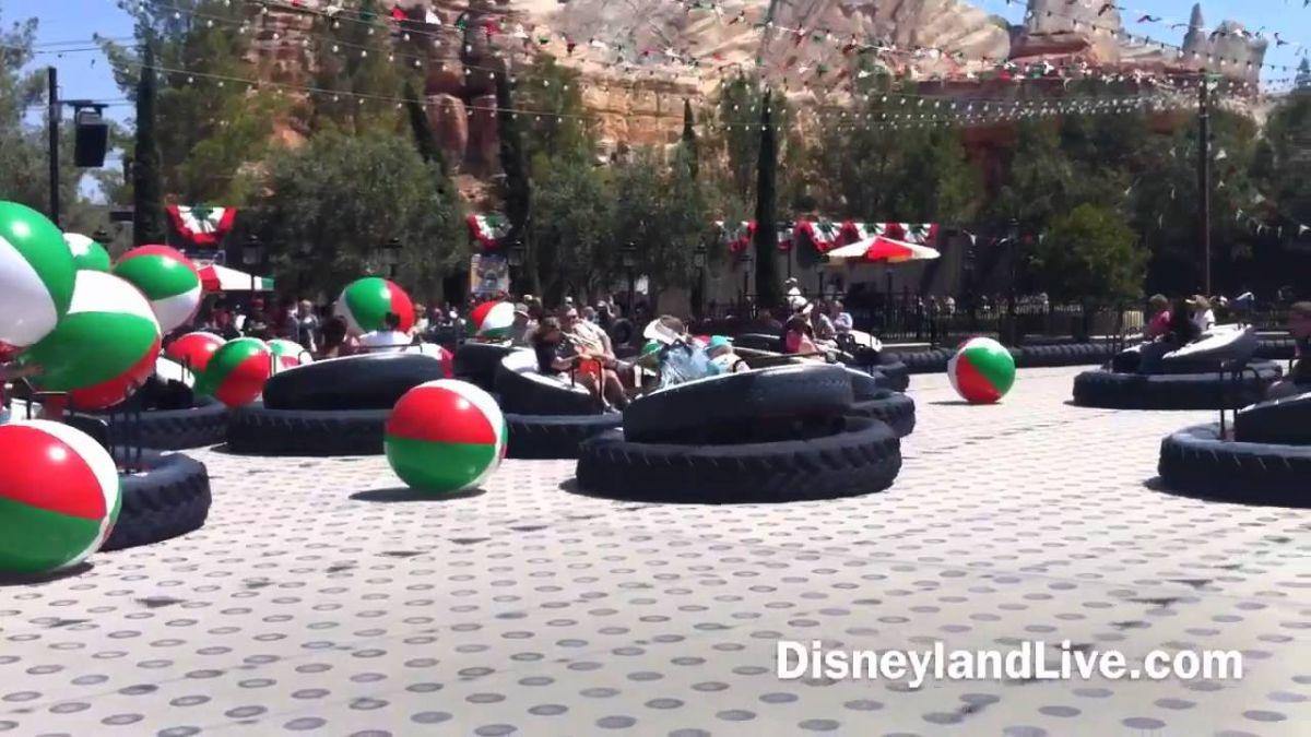 Luigi's Flying Tires Grounded And Deflated At California Adventure