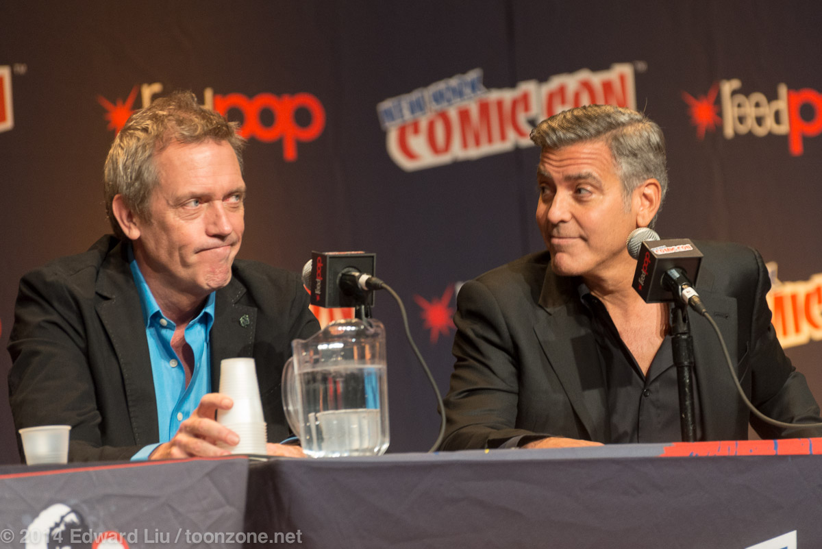 New York Comic Con 2014 NYCC Disney Features Tomorrowland Hugh Laurie and George Clooney