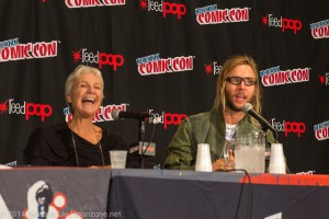 I blew focus on this photo. Don't care. Because Andrea Romano laughing is a wonderful thing even if it is out of focus.