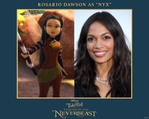 Tinker Bell and the Legend of the NeverBeast Rosario Dawson Nyx