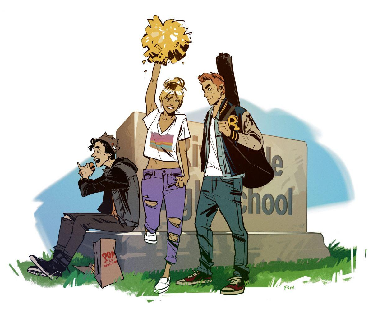 "Proposed artwork for the ""Archie"" comics re-launch, by Fiona Staples."