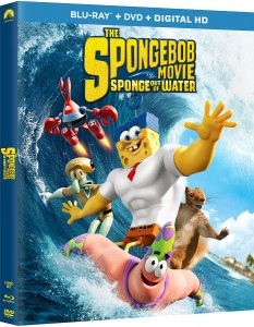 The SpongeBob Movie: Sponge Out of Water Blu-ray box art