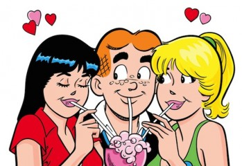 This comic image released by Archie Comics shows Veronica, left, Archie, center, and Betty, characters from the Archie's comic book series. Archie Comics announced Thursday that Warner Bros. will produce a live-action film based on the comic's characters, including Archie, Betty, Veronica and Jughead. It will be the first feature film for the 72-year-old comic. (AP Photo/Archie Comics)