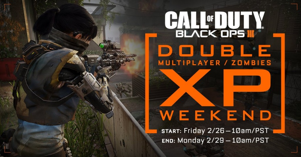 Black Ops 3 Double XP weekend Feb 26 for PS4, Xbox One