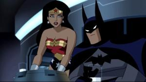 Susan Eisenberg as Wonder Woman in Justice League Unlimited (with friend)