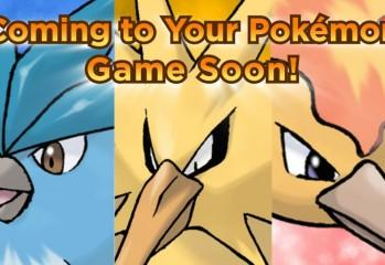 Articuno, Zapdos, Moltres Coming To A 3DS Near You