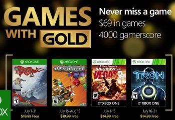 Microsoft Xbox Releases New Games With Gold For July 2016