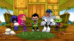 Teen Titans Go Coconut Cream Pie