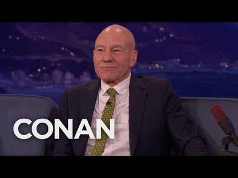 Patrick Stewart Can't Get Enough Of His New Foster Pit Bull