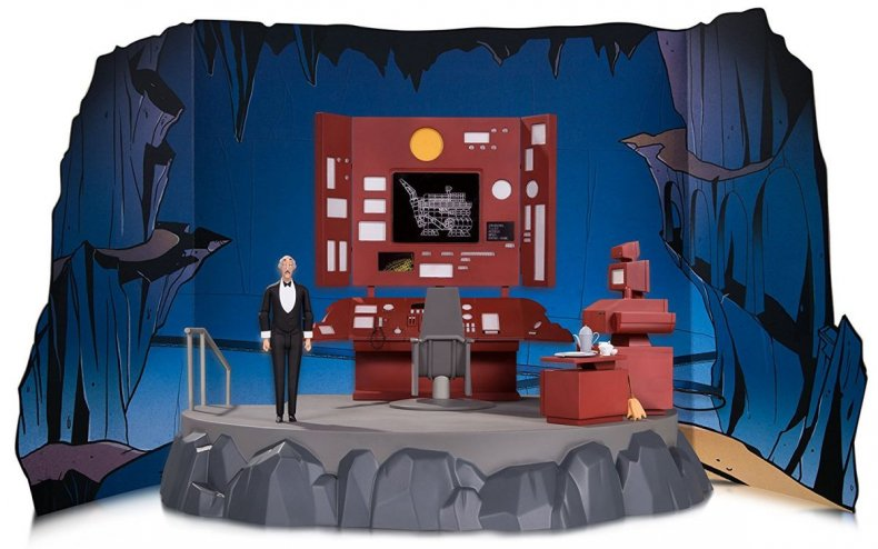 2017 Comics & Collectibles Holiday Gift Guide - BATMAN ANIMATED BATCAVE WITH BATCOMPUTER VIGNETTE AND ALFRED ACTION FIGURE