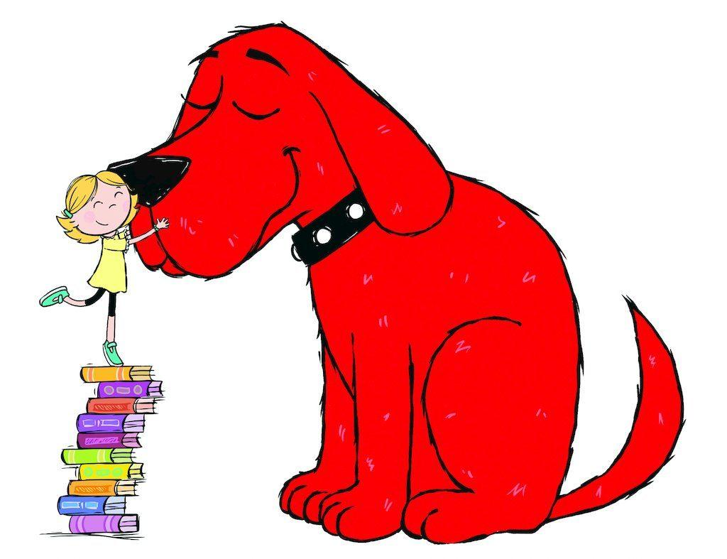 This is an image of Exhilarating Clifford the Big Red Dog Clipart