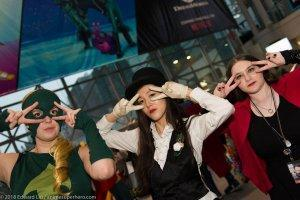Artemis, Zatanna, and Scarlet Witch Batusi Cosplay